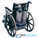Dual Wheelchair Oxygen Carrier